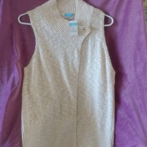 Vintage J McLaughlun one button wrap vest
